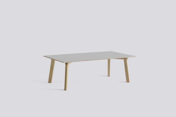 CPH Deux 250 Table L120xW60xH39 Beech Untreated dusty grey laminate
